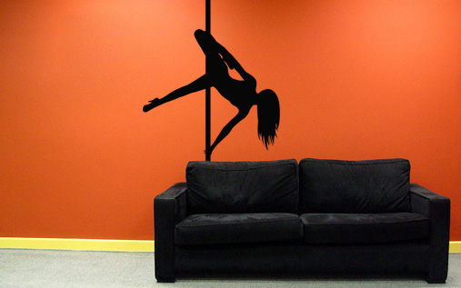 >Black Friday 55%< Stenske nalepke POLE DANCE 100x200 cm NAUT009/24h - črna barva