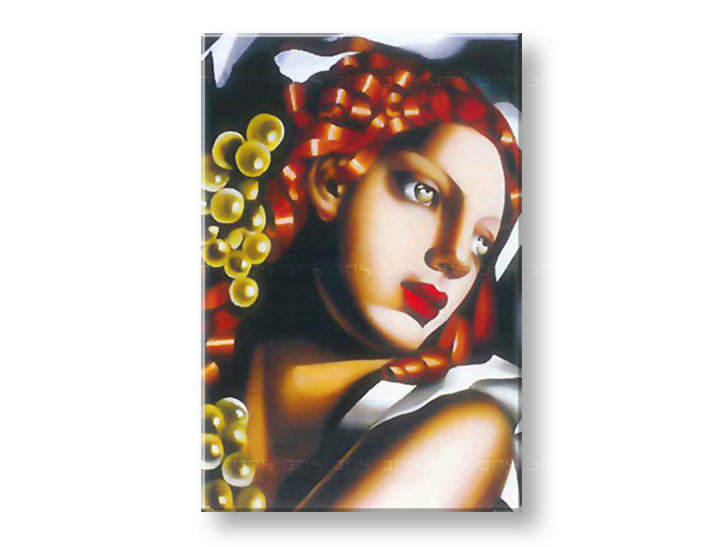 Slika na platnu WOMAN WITH Zelena EYES  – Tamara de Lempicka