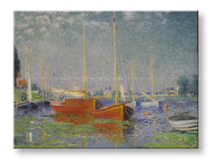 Slika na platnu RED BOATS AT ARGENTEUIL – Claude Monet