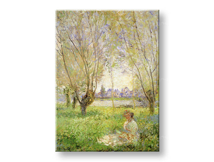 Slika na platnu WOMAN UNDER THE WILLOWS – Claude Monet