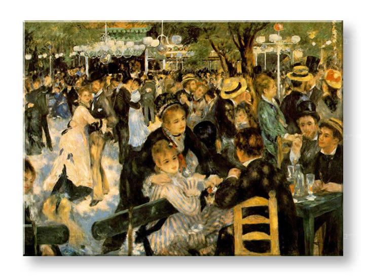 Slika na platnu BALL AT THE MOULIN DE LA GALETTE  – Pierre Auguste Renoir
