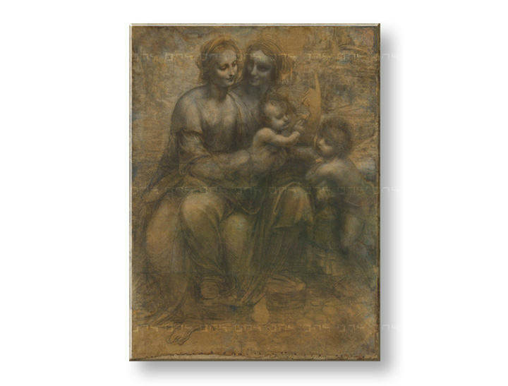 Slika na platnu VIRGIN AND CHILD WITH SAINT ANNE– Leonardo da Vinci